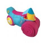 Pluche motor met handdoek Roze
